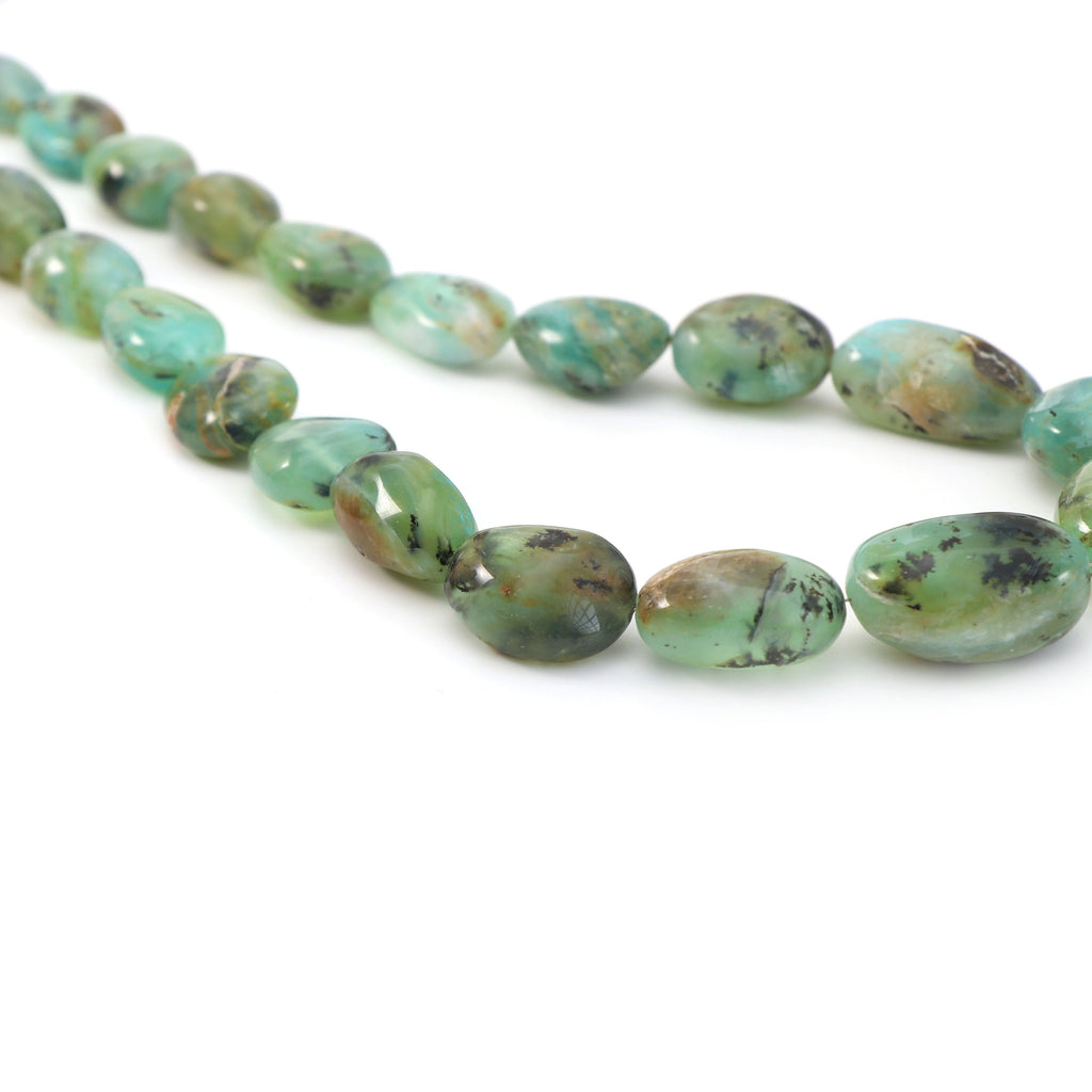 Peru Opal Smooth Tumble Beads - 13x15 mm to 17x25 mm - Rare Peru Natural Opal - Gem Quality , 21 Inch Full Strand, AAA - National Facets, Gemstone Manufacturer, Natural Gemstones, Gemstone Beads