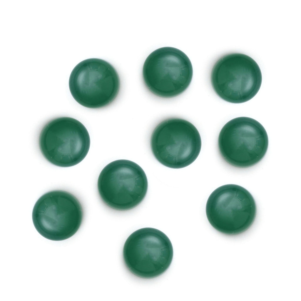 Green Chalcedony Smooth Round Loose Gemstone, 3 mm to 10 mm, Cabochon Gemstone, AAA Quality, Set of 10 Pieces - National Facets, Gemstone Manufacturer, Natural Gemstones, Gemstone Beads