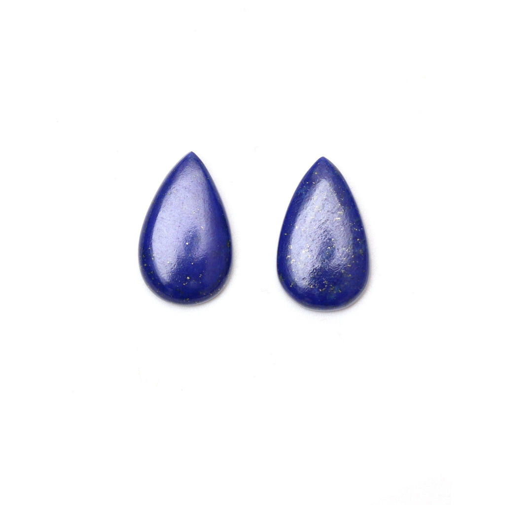 AAA Quality Natural Lapis Smooth Pear Cabochon Gemstone | 14x22 mm | Gemstone Cabochon | Pair ( 2 Pieces ) - National Facets, Gemstone Manufacturer, Natural Gemstones, Gemstone Beads