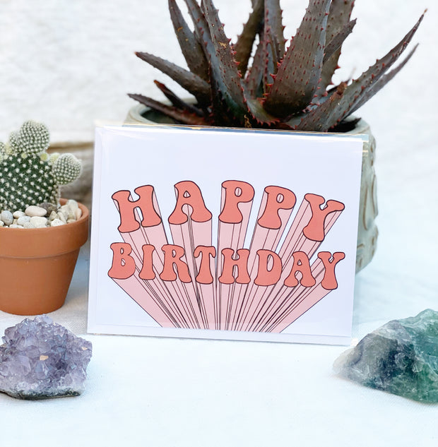 Happy Birthday Extrude Greeting Card