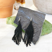 Beaded Fringe Earrings in Nior