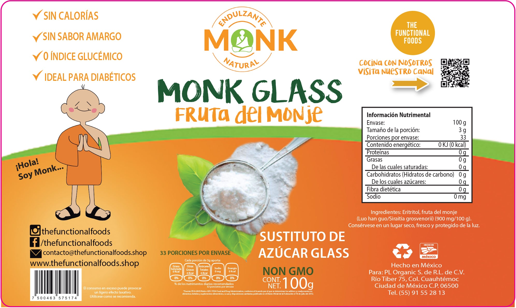 Fruta del Monje MONK GLASS