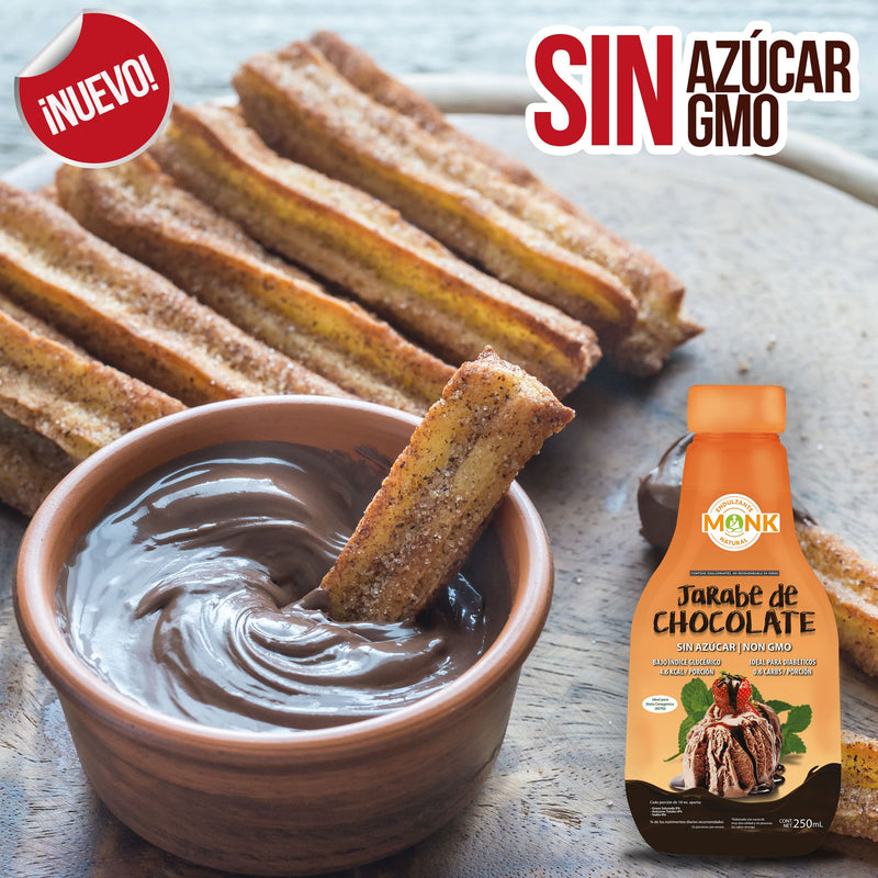 Chocolate Monk: Jarabe de Chocolate con Fruta del Monje 250 ml.