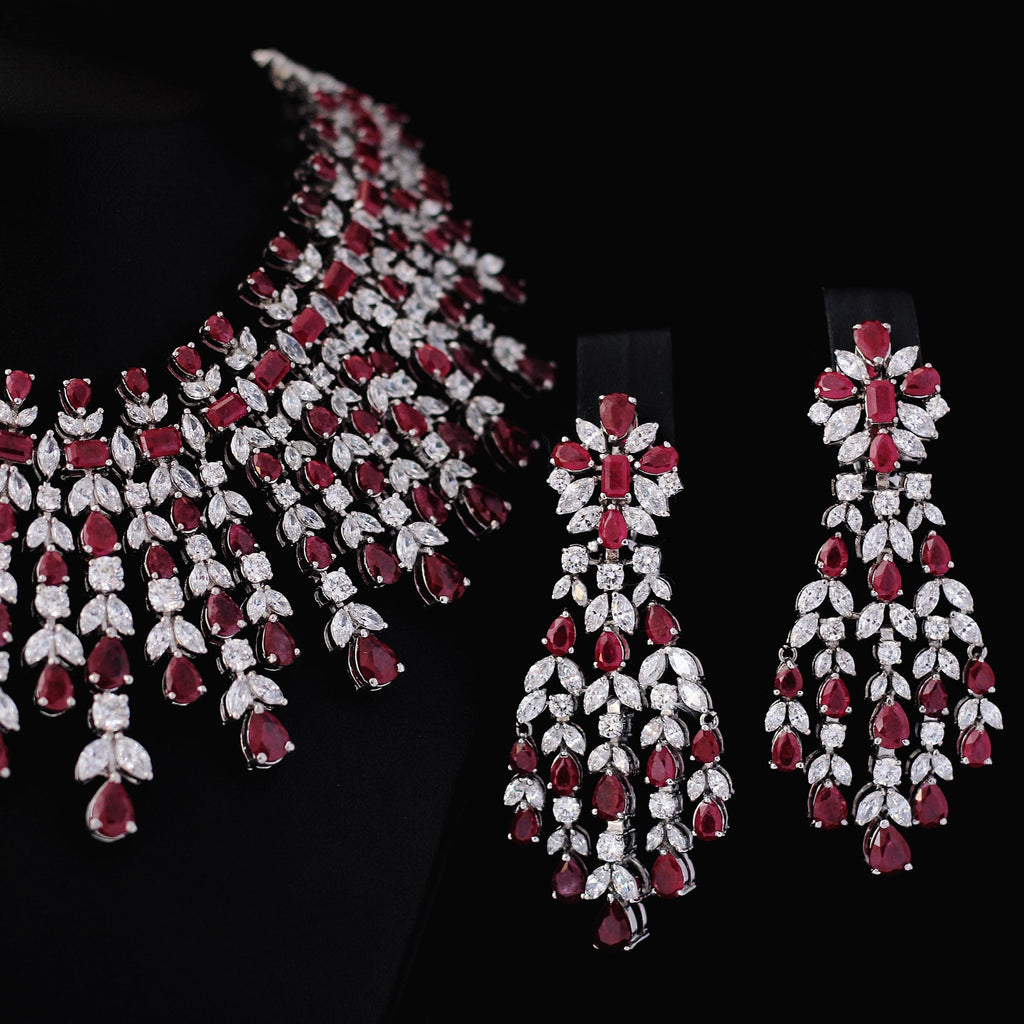 Necklace Set with Chetum and Cubic Zircons