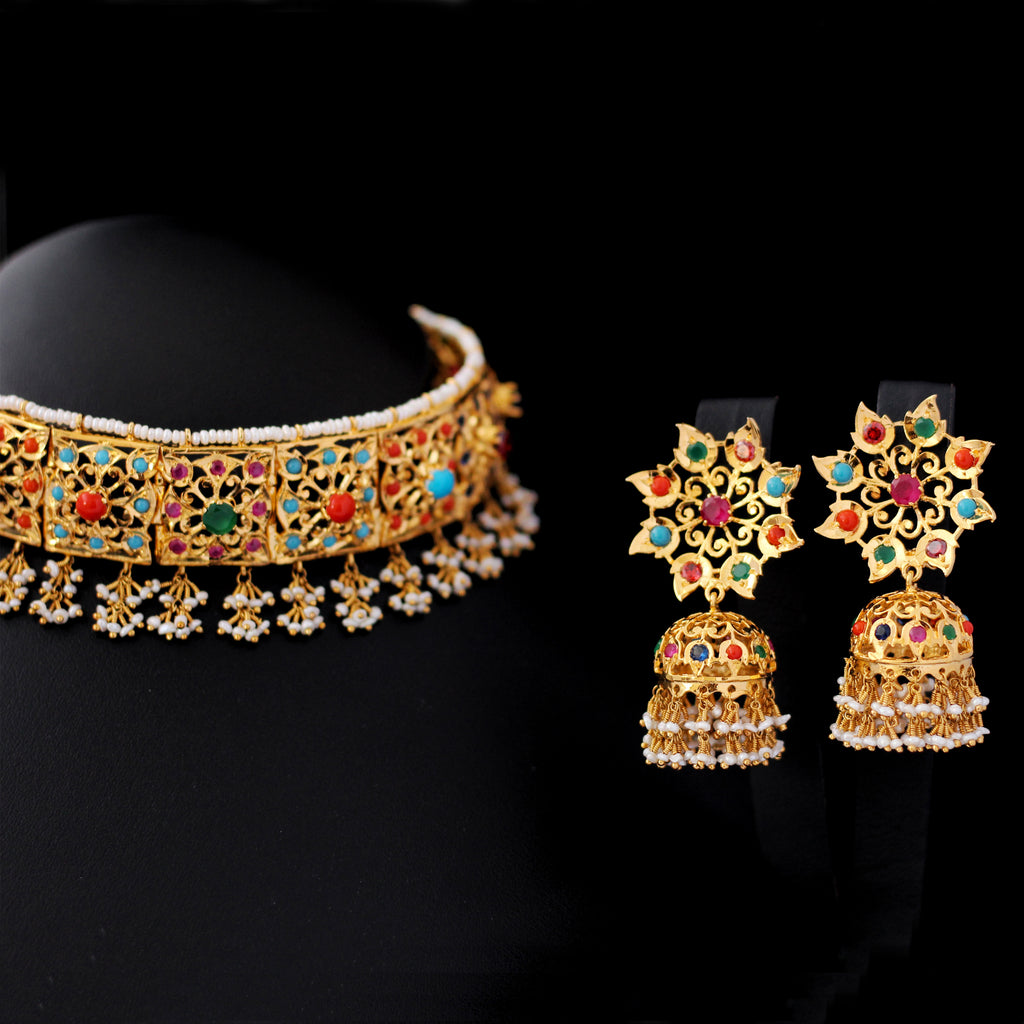Necklace Set in Naurattan