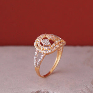 Solitaire Ring Band in 21k Gold
