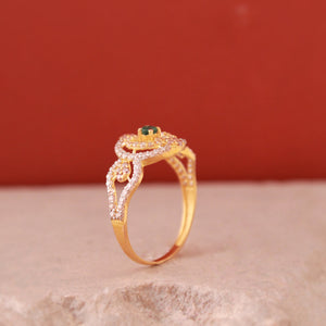 Oval Crown Ring in 21k Gold