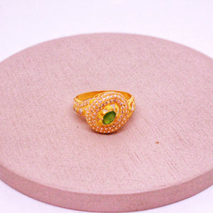 Geomtrical Ring in 21k Gold