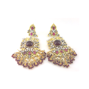 EARINGS IN CHETUM AND PEARL-0