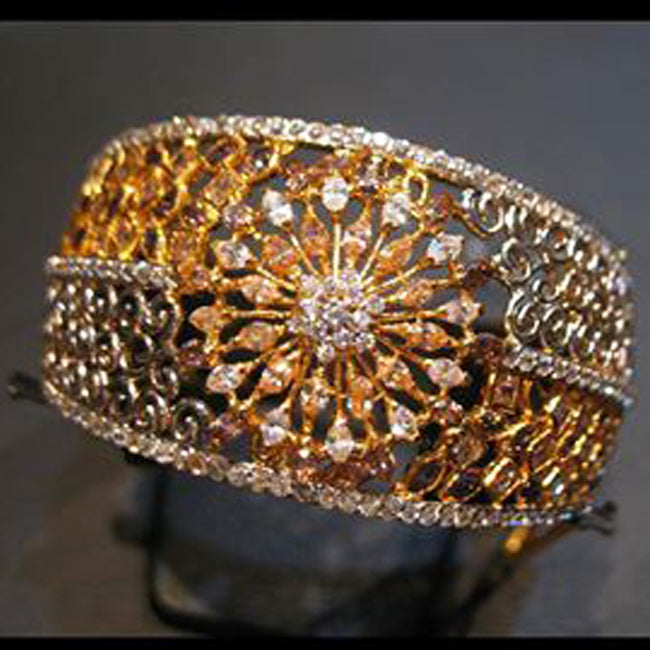 Bangle in ganga jamni polish-0