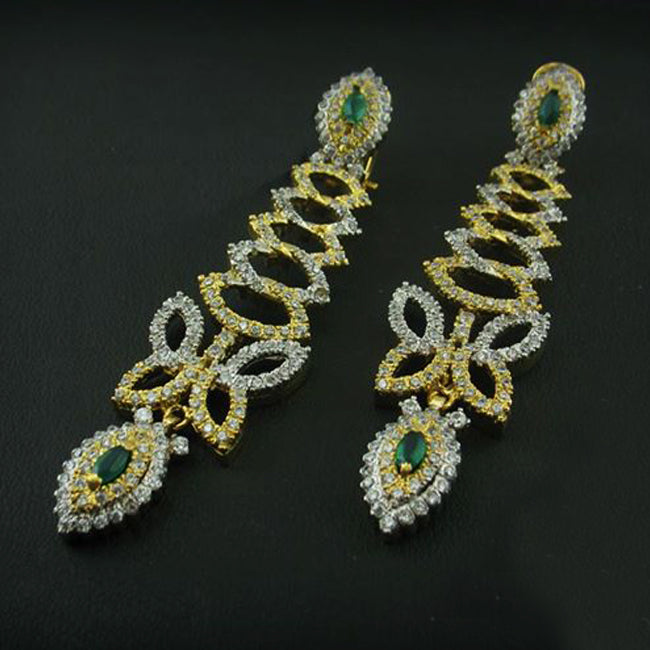 Earrings in jade-0