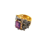 Load image into Gallery viewer, Ring in falsa stone with enamel-1006