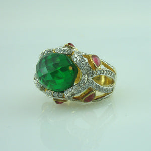 Ring in green onyx-0