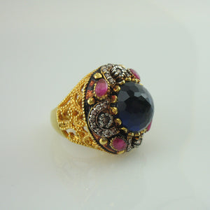 Ring in royal blue onyx-0