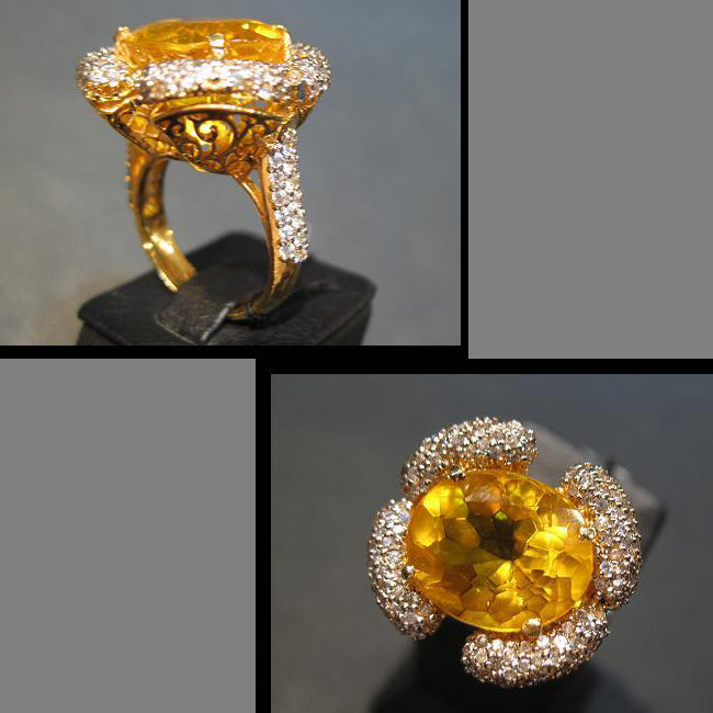 Ring in colored Zircon-0