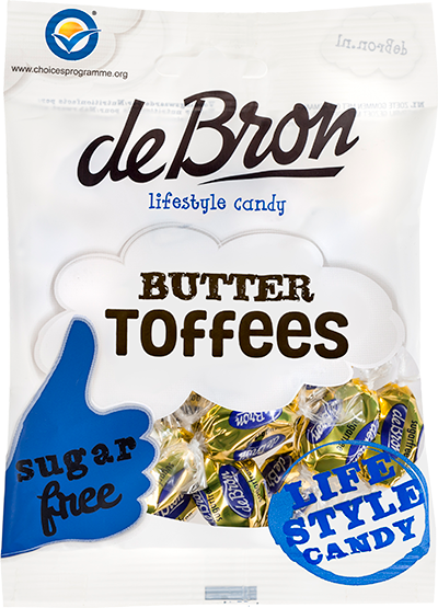 De Bron Butter Toffees sugar free 70G