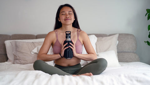 Meditation with MOBOT - Sustainable Foam Roller Water Bottle