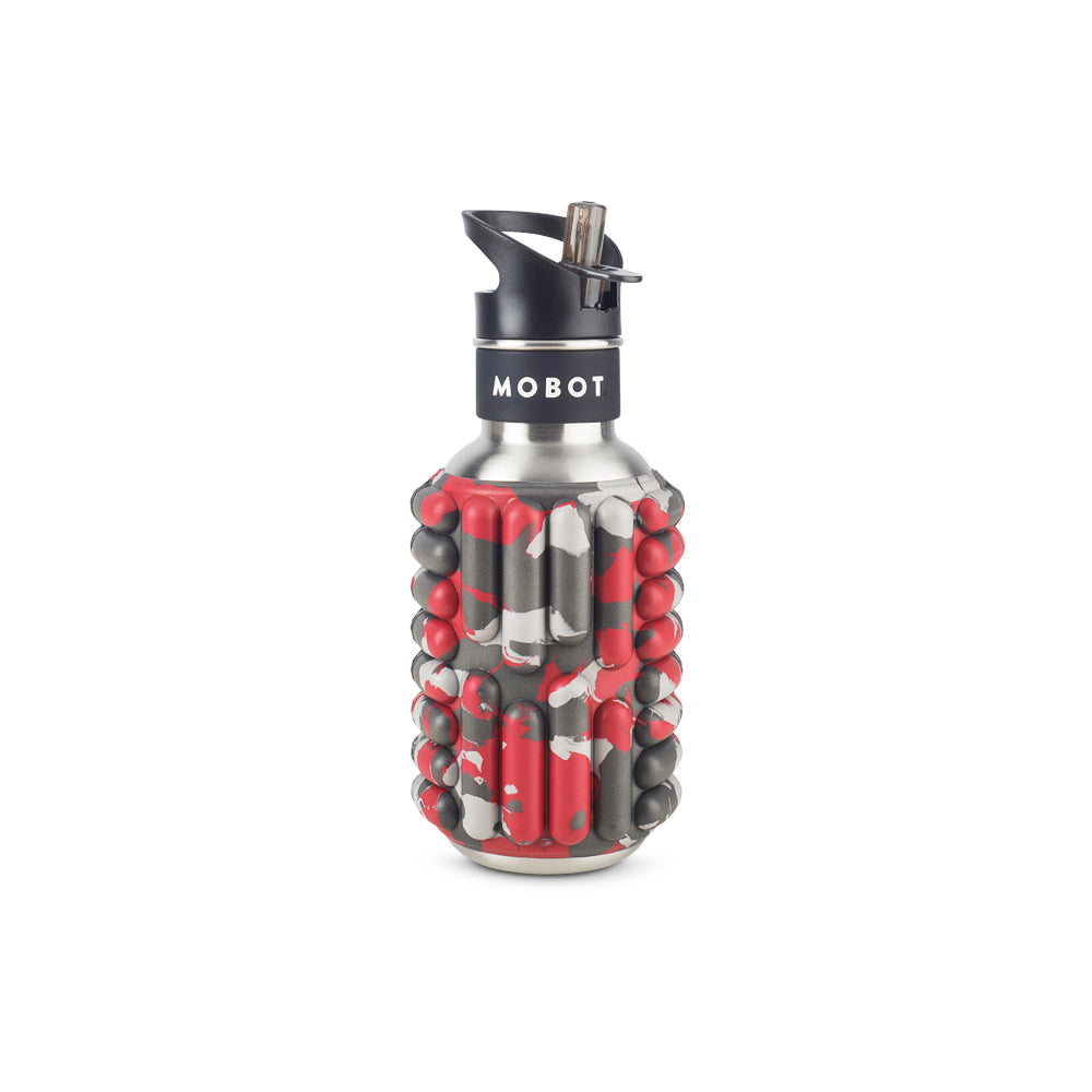 18oz Firecracker - Foam Roller Water Bottle - MOBOT