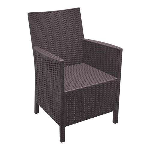 California Rattan Arm Chair - Brown
