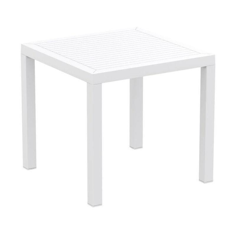 Commercial Plastic Dining Table | White | Tiger Furniture UK