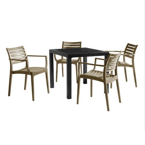 ARTEMIS Taupe Dining Set - Contract Plastic Dining Set
