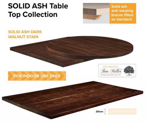 Ash contract Table tops - commercial use