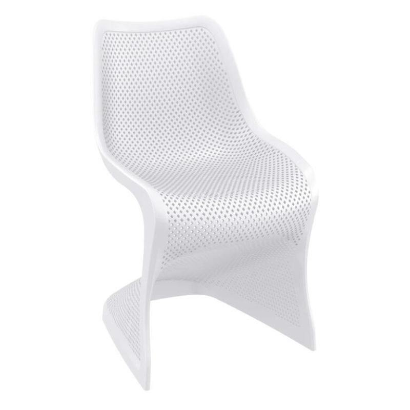 White Funky Curved Plastic Chair | Tiger Furniture UK