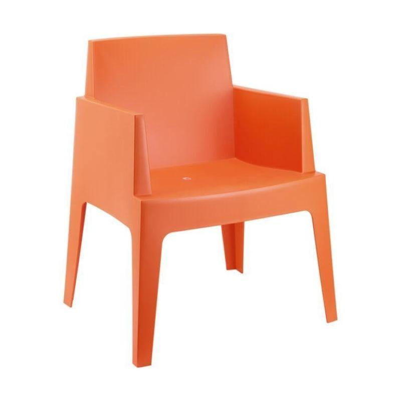 Orange Plastic Box Chairs | Tiger Furniture UK