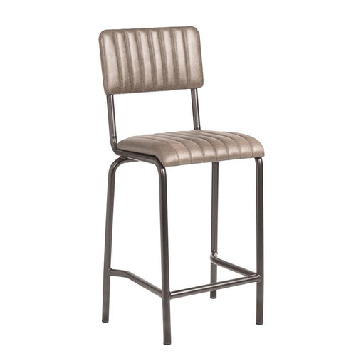 Vintage Bar Stool - CORE Mid Bar Stool – Vintage Silver