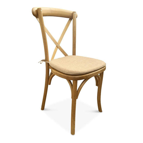 Cross Back Chair - Rustic Elm