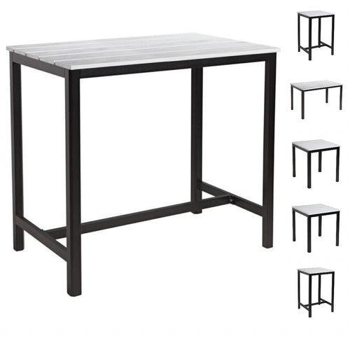 White composite outdoor commercial table