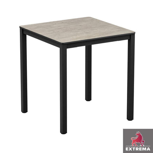 Square Restaurant Dining Table-Extrema Cool Cement-60x60