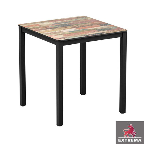 Laminate Restaurant Table-Extrema-Reclaimed-Beach-Hut-Square