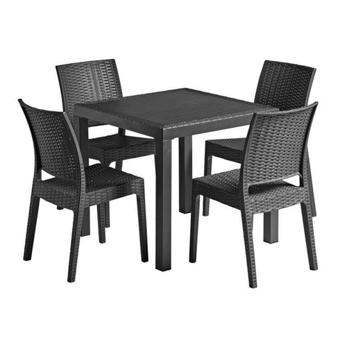 FLORIDA Grey Rattan Dining Set | Tiger Furniture UK