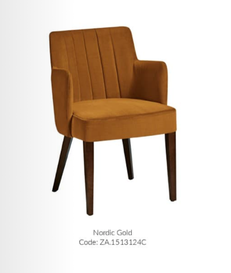 Logan Contrct Dining Chair - Nordic Gold