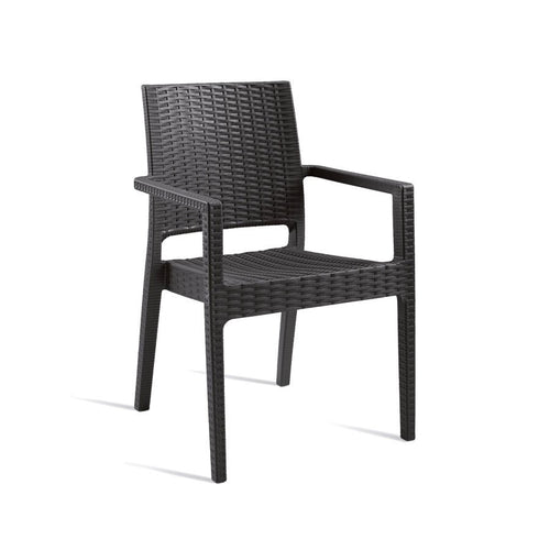 Grey Rattan Arm Chair