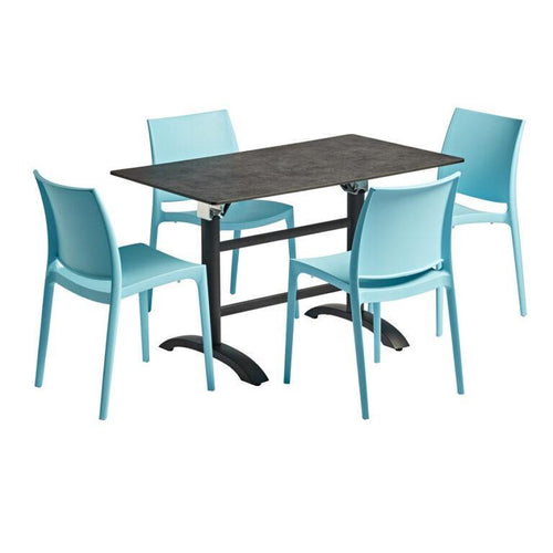 MAYA Dining Set - Light Blue | Tiger Furniture UK