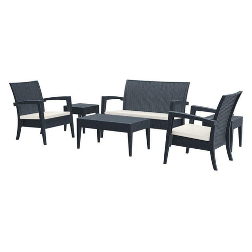 MIAMI Rattan Commercial Lounge Set – Dark Grey