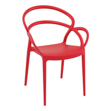 Load image into Gallery viewer, MILA Arm Chair – Stylish stacking arm chair – Contract use - Red