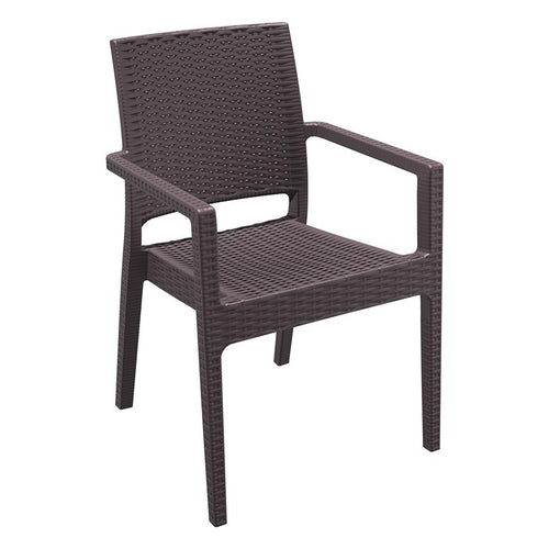 Brown Rattan Restaurant Chair