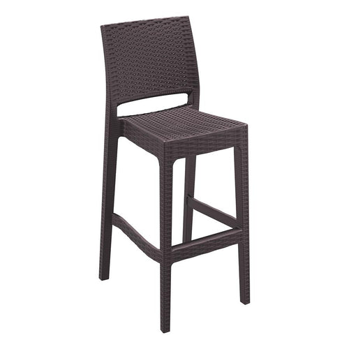 Rattan Bar Stool - Brown - Tiger Furniture