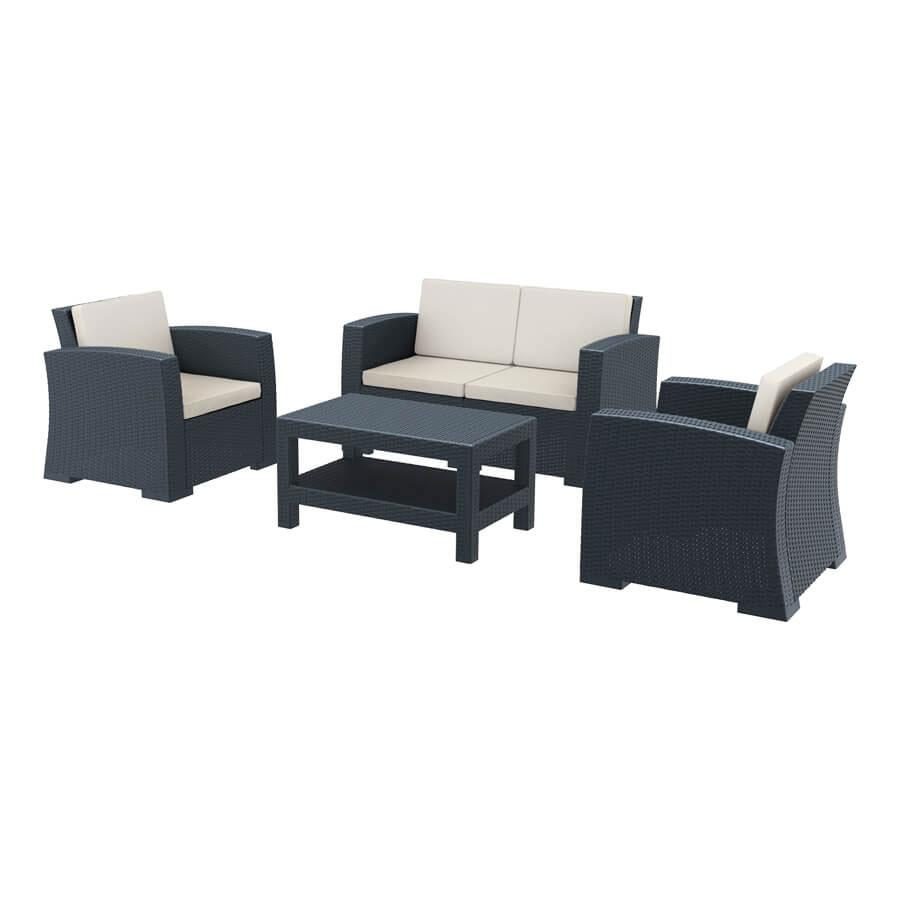 Commercial Rattan Sofa Set