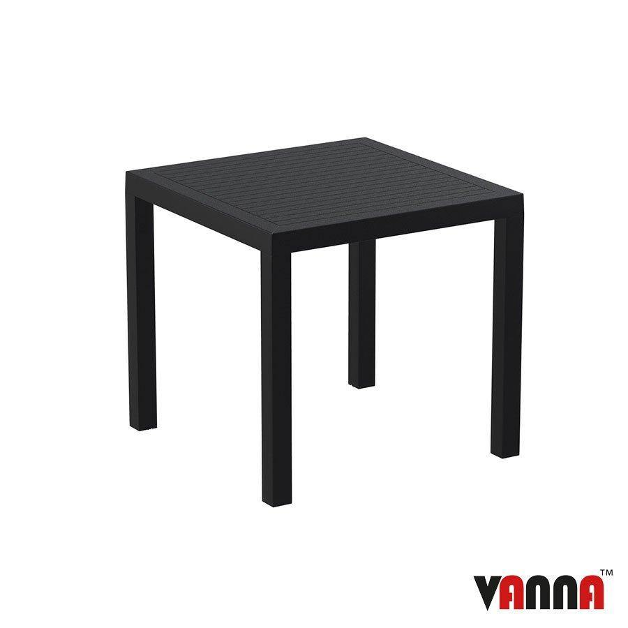 Outdoor Plastic Table - Plank - Black