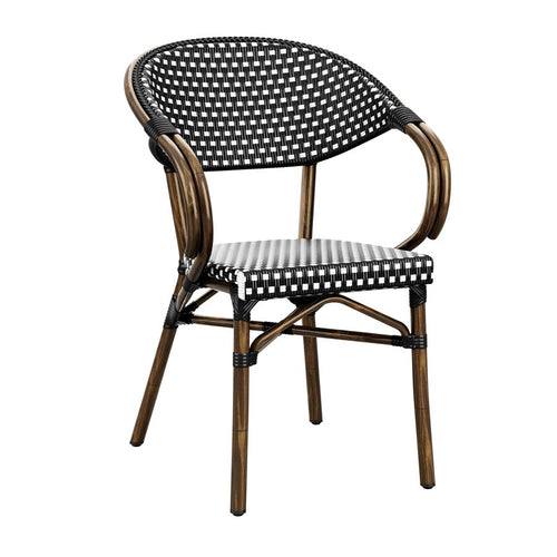 Black & White Wicker Chair UK