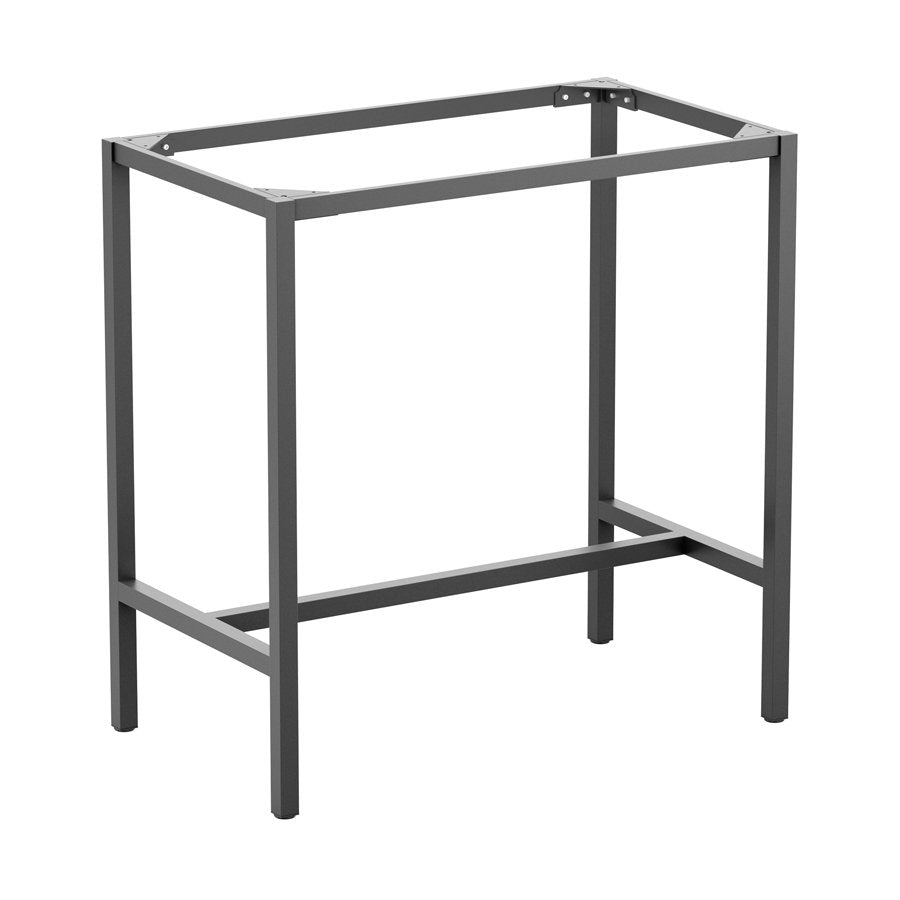 PARIS Bar Height Table Base – Rectangle 4 Seater Grey