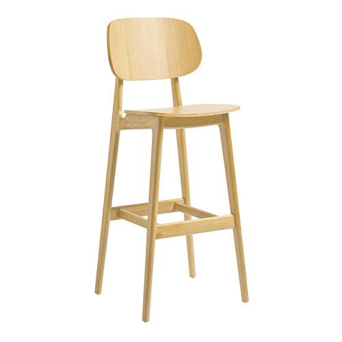 Solid Oak Bar Stool - TIGER FURNITURE