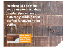 Load image into Gallery viewer, Rustic Contract Table tops - Rustic Solid Oak Collection