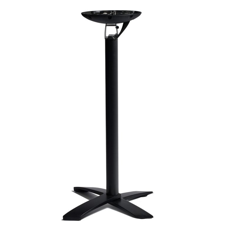 Flip top poseur table - black