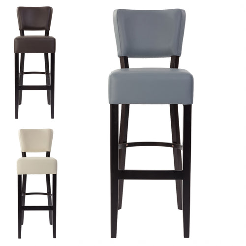 Sena Padded Bar Stool - 3 Colours - Tiger Furniture