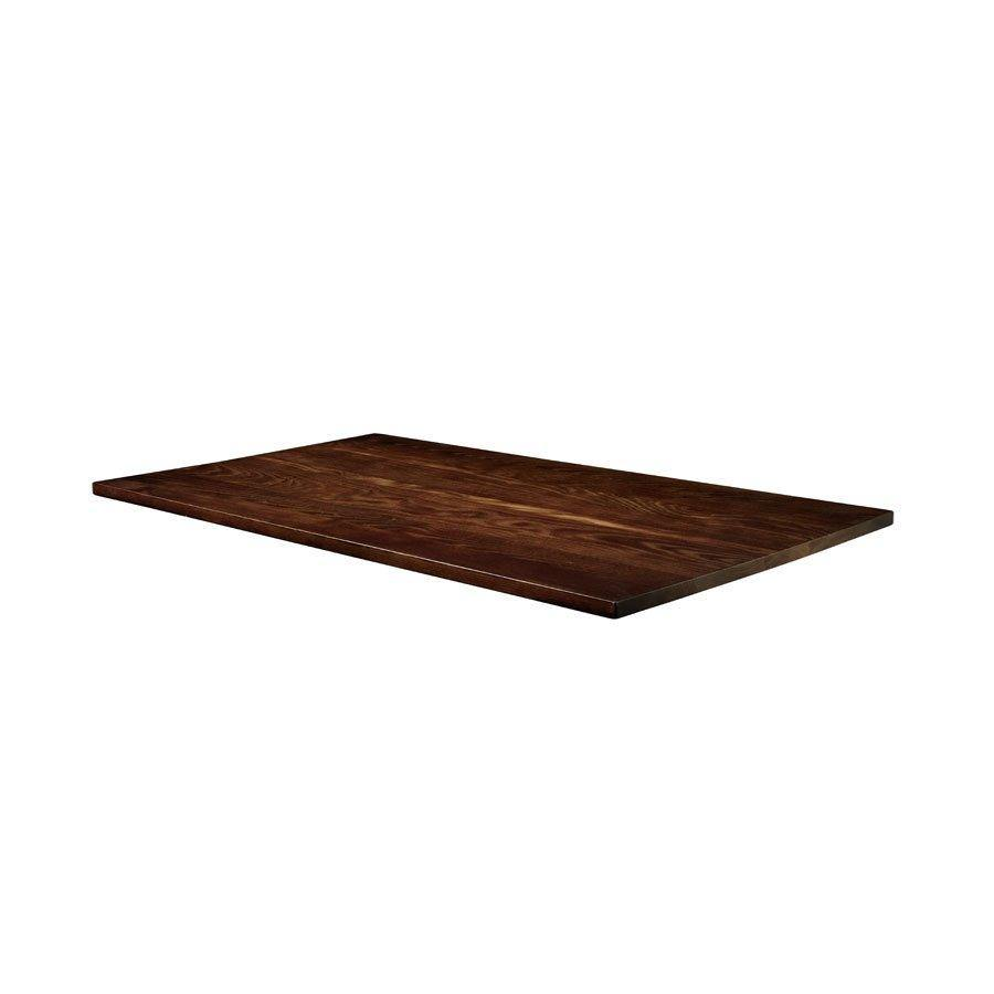 Solid-Ash contract table top-150-x-70-Dark-Walnut